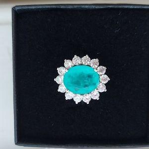 925 Silver Paraiba Tourmaline Ring